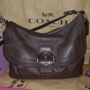Soft Brown Leather Coach bag